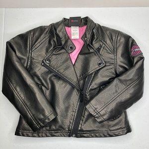 Harley Davidson Girls Size 4T Jacket Faux Leather